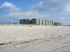 The Gulfstream Condos from the beach
